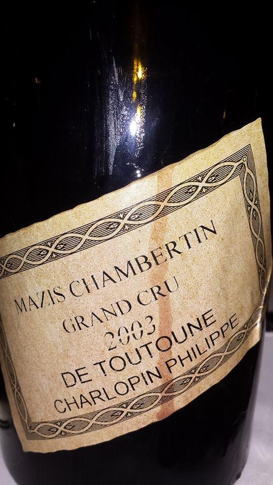 De Toutoune Charlopin Philippe – Mazis-Chambertin 2003 Grand Cru