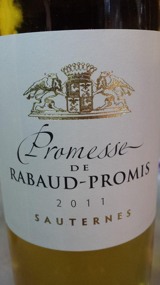 Promesse de Rabaud-Promis 2011 – Sauternes