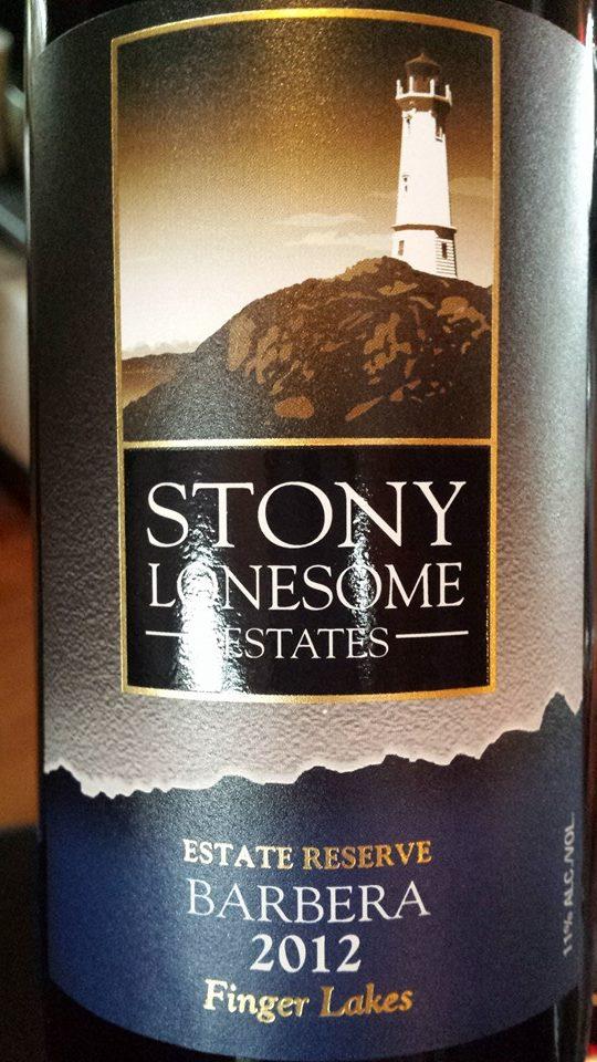 Stony Lonesome Estates – Barbera 2012 Estate Reserve – Finger Lakes