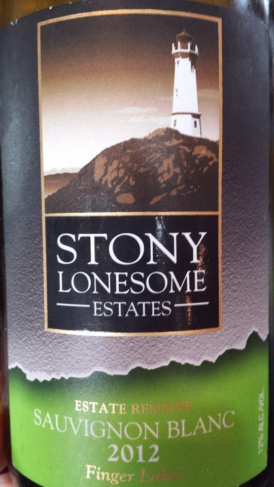 Stony Lonesome Estates – Sauvignon Blanc 2012 Estate Reserve – Finger Lakes