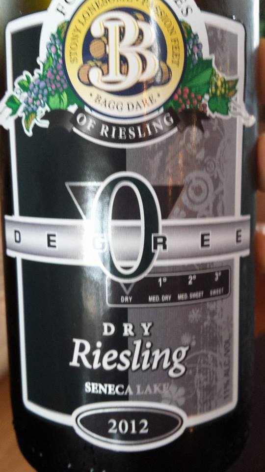 Three Brothers Wineries – Dry Riesling 2012 Zero Degree – Seneca Lake
