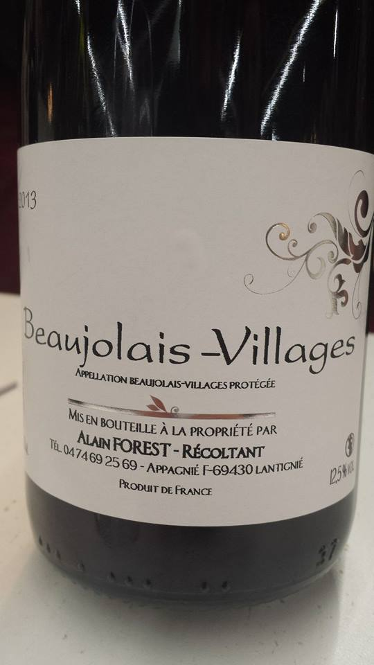 Alain Forest 2013 – Beaujolais-Villages