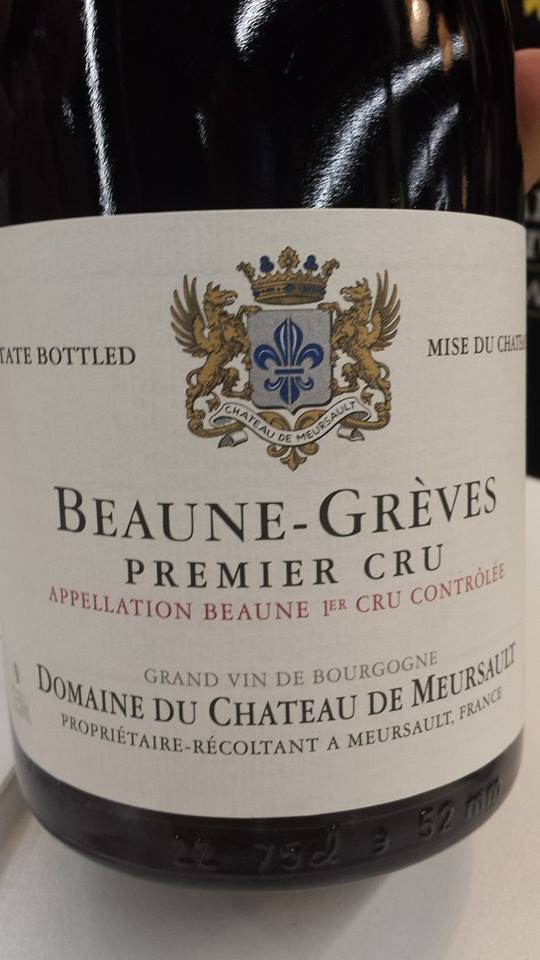 Château de Meursault 2012 – Beaune Grèves 1er Cru