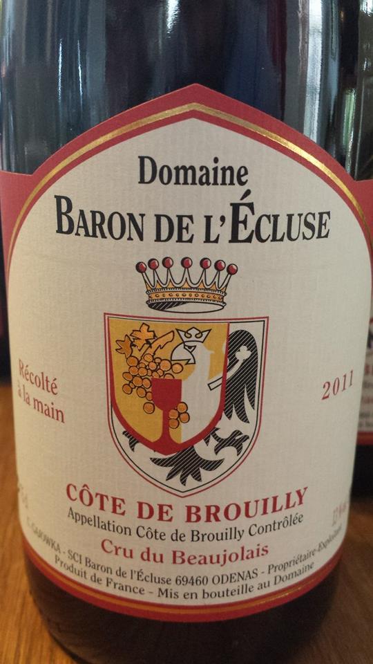 Domaine Baron de l'écluse 2011 – Côte-de-Brouilly