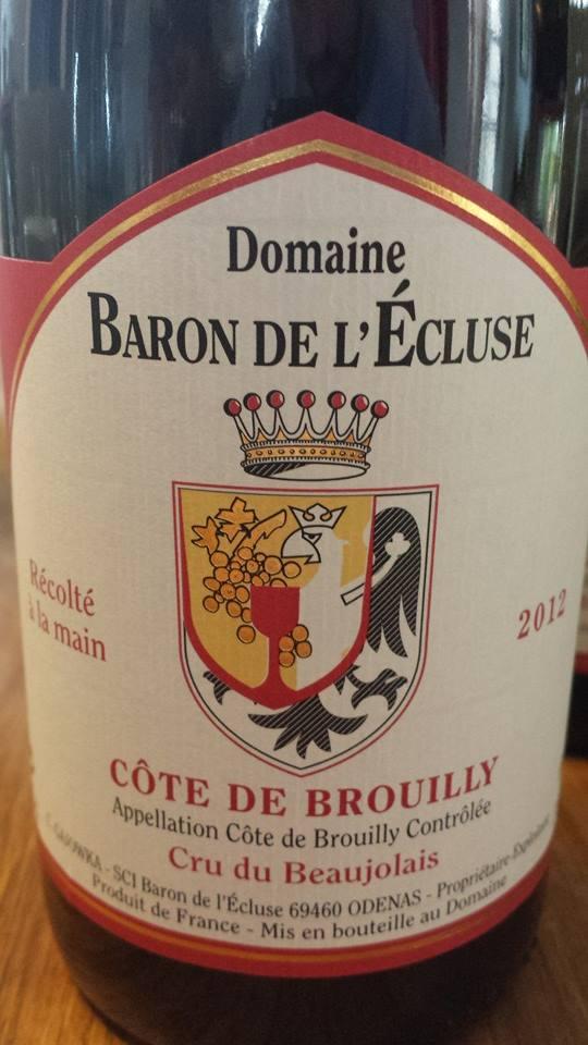 Domaine Baron de l'écluse 2012 – Côte-de-Brouilly