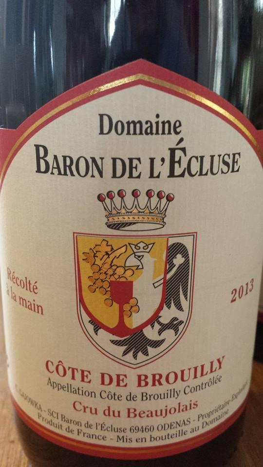 Domaine Baron de l'écluse 2013 – Côte-de-Brouilly