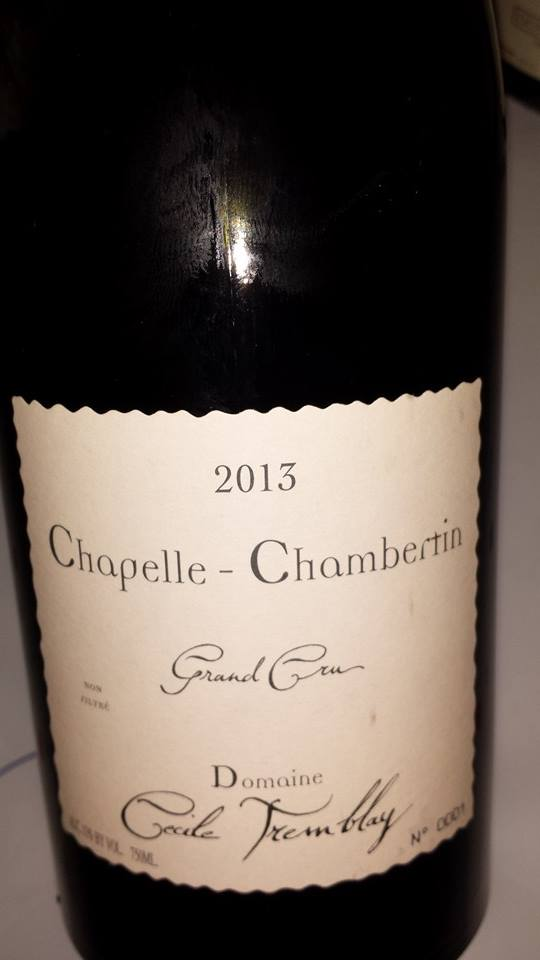 Domaine Cécile Tremblay 2013 – Chapelle-Chambertin – Grand Cru