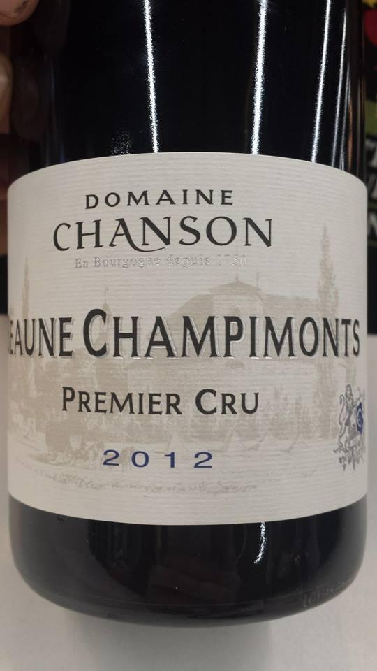Domaine Chanson 2012 – Beaune Champimonts 1er Cru