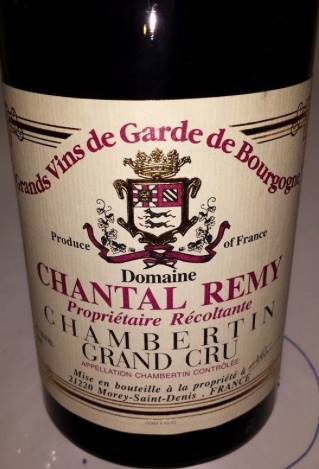 Domaine Chantal Remy 2013 – Chambertin – Grand Cru