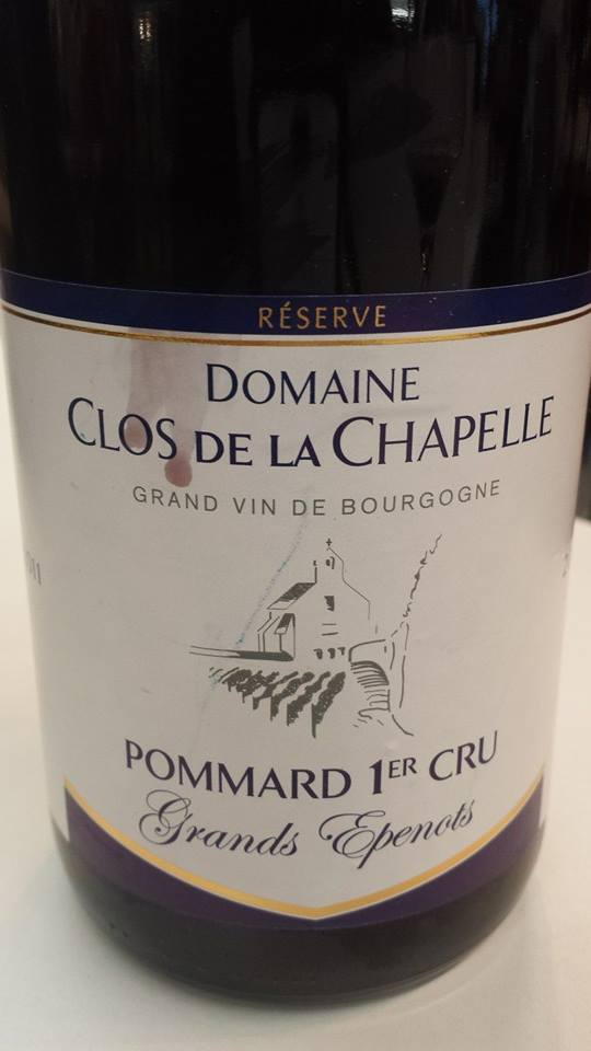 Domaine Clos de la Chapelle – Grands Epenots 2011 Reserve – Pommard 1er Cru