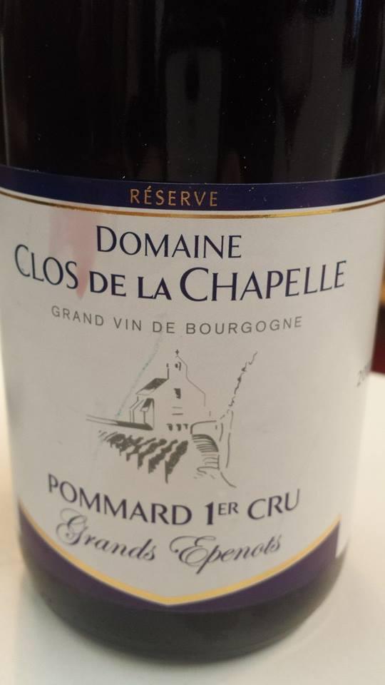 Domaine Clos de la Chapelle – Grands Epenots 2012 – Pommard 1er Cru