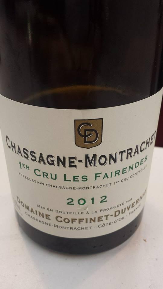 Domaine Coffinet-Duvernet – Les Fairendes 2012 – Chassagne-Montrachet 1er Cru