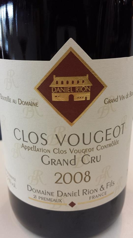 Domaine Daniel Rion & Fils 2008 – Clos Vougeot Grand Cru