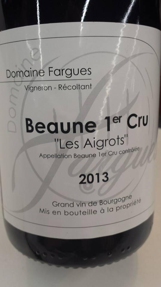 Domaine Fargues 2012 – Les Aigrots – Beaune 1er Cru