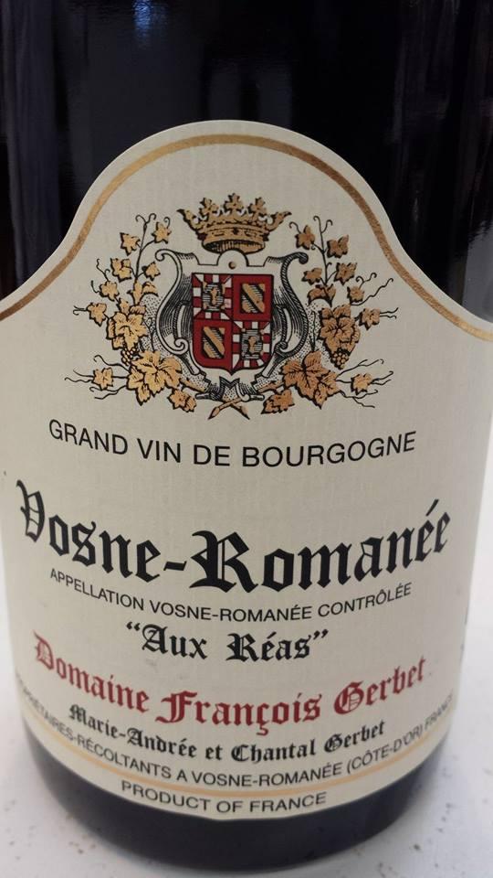 Domaine François Gerbet 2012 – Aux Réas – Vosne-Romanée