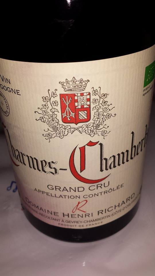Domaine Henri Richard 2013 – Charmes-Chambertin – Grand Cru