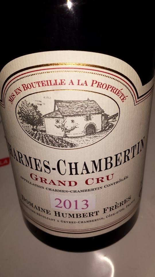 Domaine Humbert Frères 2013 – Charmes-Chambertin – Grand Cru