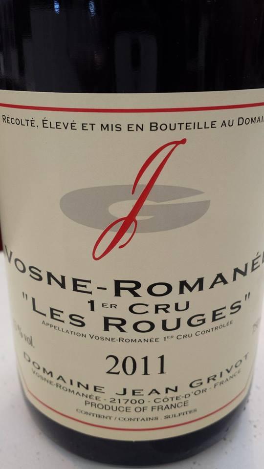 Domaine Jean Grivot 2011 – Les Rouges – Vosnes-Romanée 1er Cru
