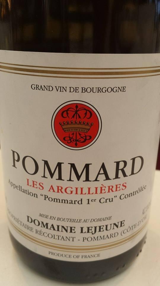 Domaine Lejeune – Les Argillières 2012 – Pommard 1er Cru