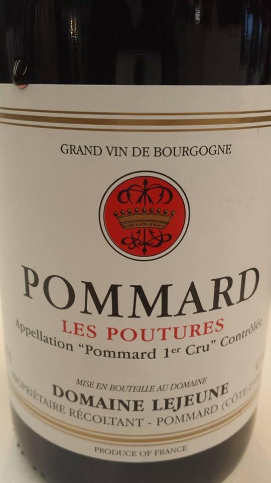 Domaine Lejeune – Les Poutures 2012 – Pommard 1er Cru