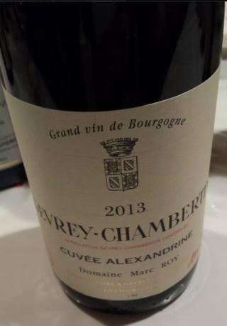 Domaine Marc Roy – Cuvée Alexandrine 2013 – Gevrey-Chambertin