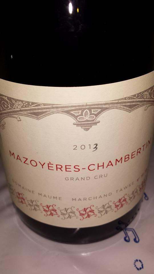 Domaine Maume Marchand-Tawse 2013 – Mazoyères-Chambertin – Grand Cru