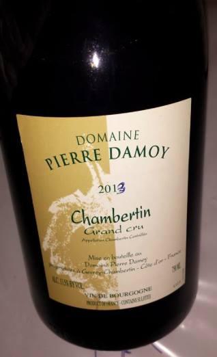 Domaine Pierre Damoy 2013 – Chambertin – Grand Cru
