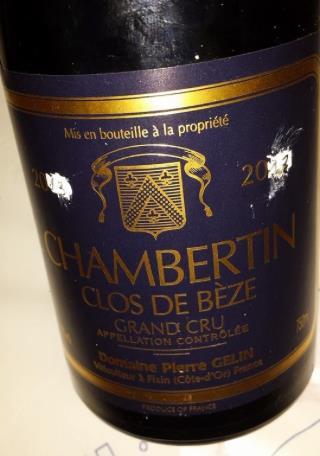 Domaine Pierre Gelin 2013 – Chambertin – Clos de Bèze – Grand Cru