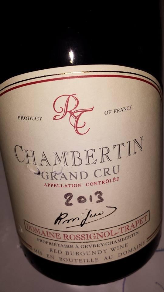 Domaine Rossignol-Trapet 2013 – Chambertin – Grand Cru