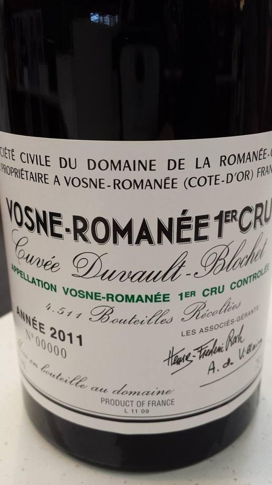 Domaine de la Romanée-Conti – Cuvée Duvault-Blochet 2011 – Vosne-Romanée 1er Cru