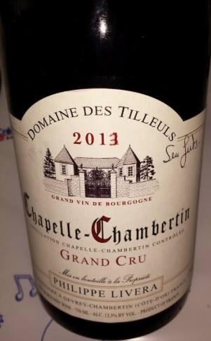 Domaine des Tilleuls – Philippe Livera 2013 – Chapelle-Chambertin – Grand Cru