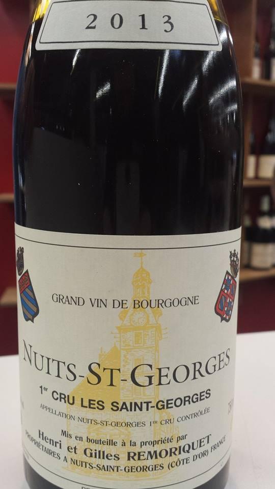 Henri et Gilles Remoriquet – Les Saint-Georges 2013 – Nuits-Saint-Georges 1er Cru