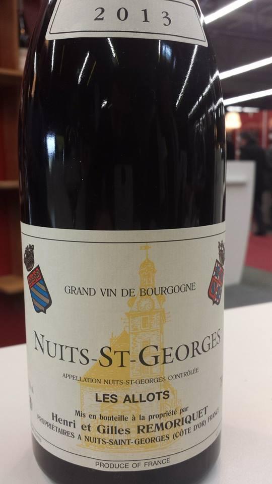Henri et Gilles Remoriquet – Les Allots 2013 – Nuits-Saint-Georges