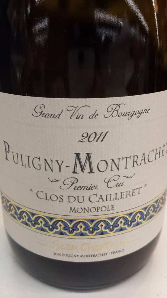 Jean Charlier 2011 – Clos du Cailleret – Monopole – Puligny-Montrachet 1er Cru