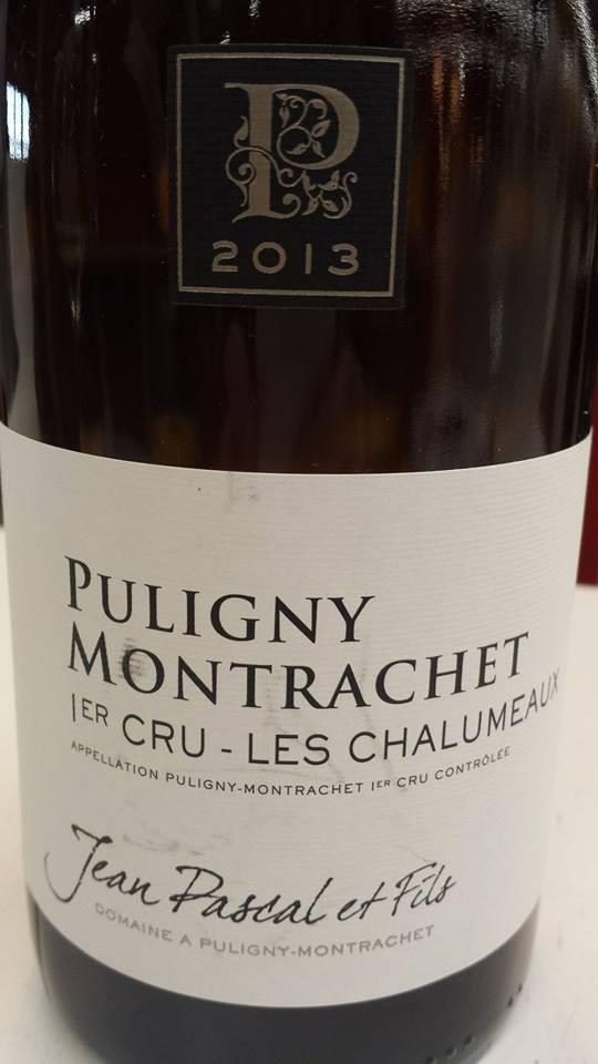 Jean Pascal et Fils 2013 – Les Chalumeaux – Puligny-Montrachet 1er Cru