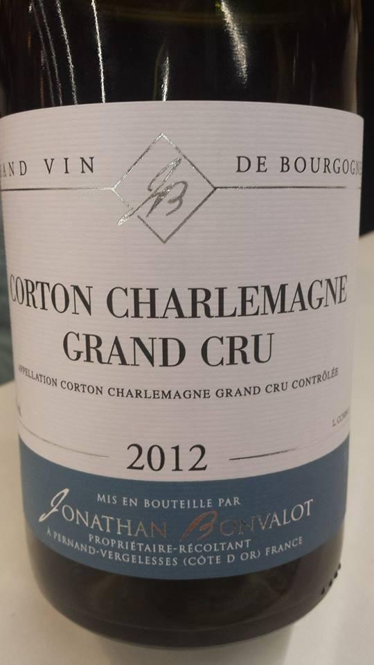 Jonathan Bonvalot 2012 – Corton Charlemagne Grand Cru