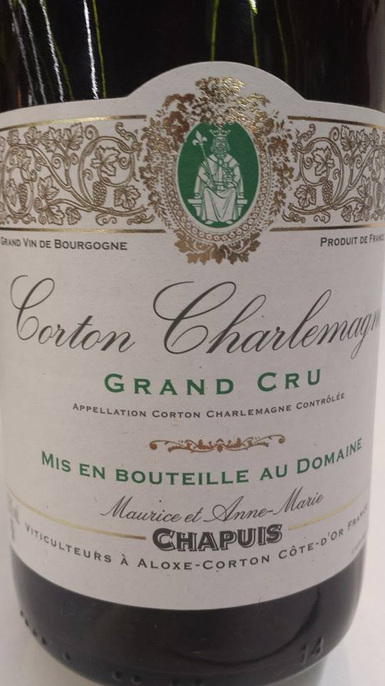 Maurice et Anne-Marie Chapuis 2011 – Corton Charlemagne Grand Cru