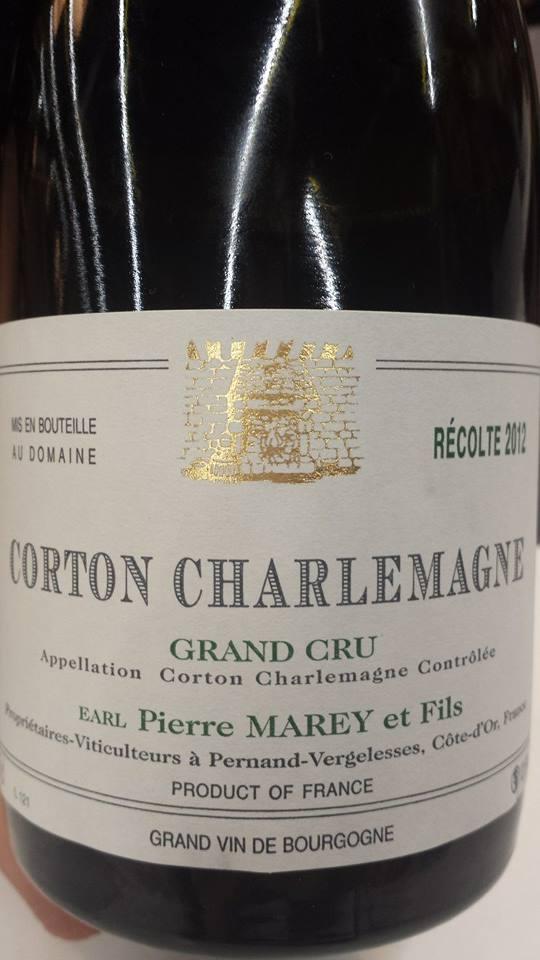 Pierre Marey et Fils 2012 – Corton Charlemagne Grand Cru