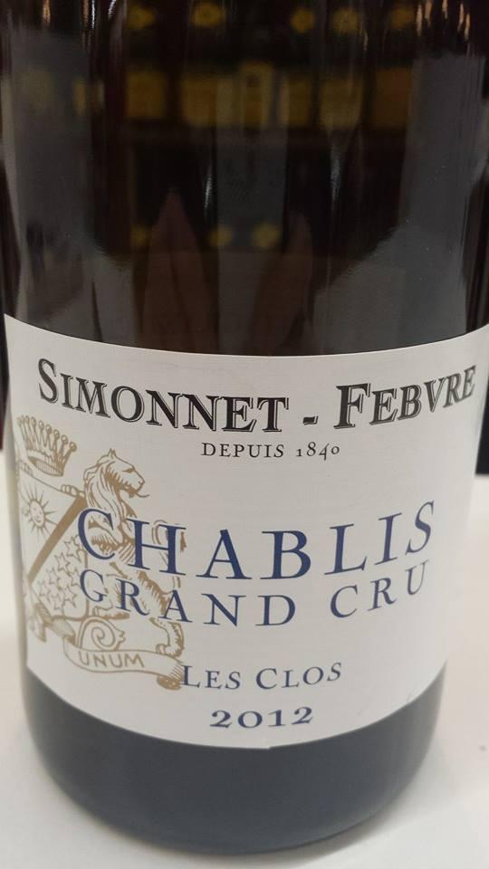 Simonnet-Febvre – Les Clos 2012 – Chablis Grand Cru