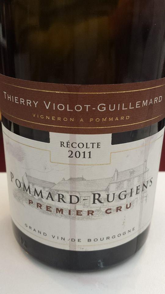 Thierry Violot Guillemard 2011 – Pommard-Rugiens 1er Cru