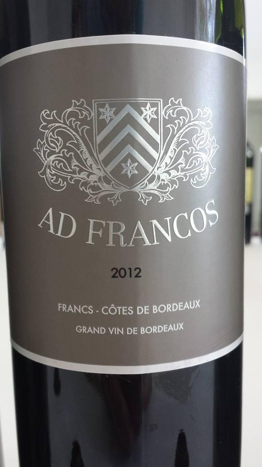 Château Ad Francos 2012 – Francs Côtes-de-Bordeaux