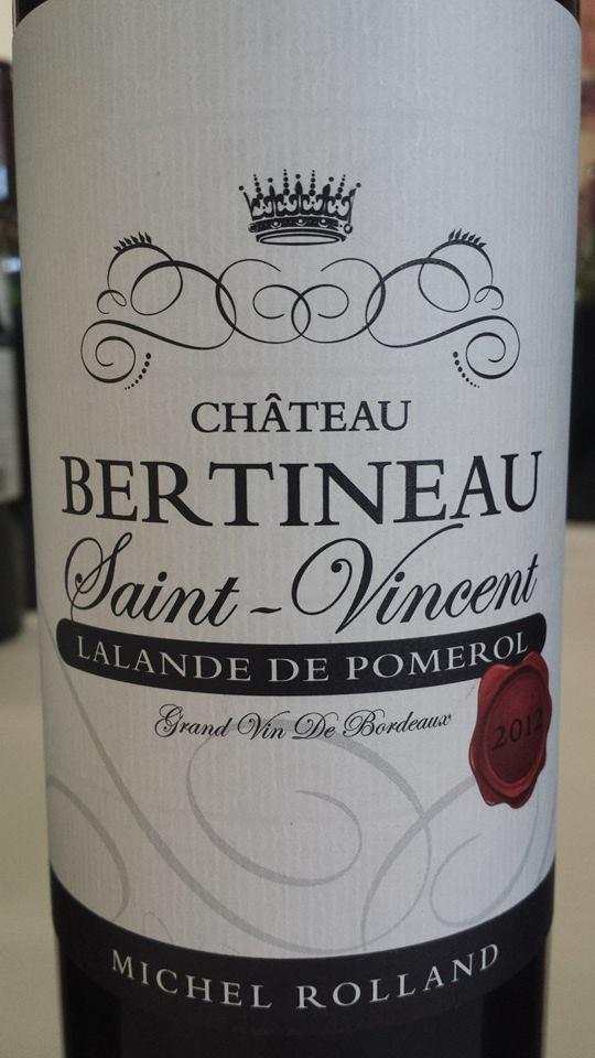 Château Bertineau Saint-Vincent 2012 – Lalande-de-Pomerol