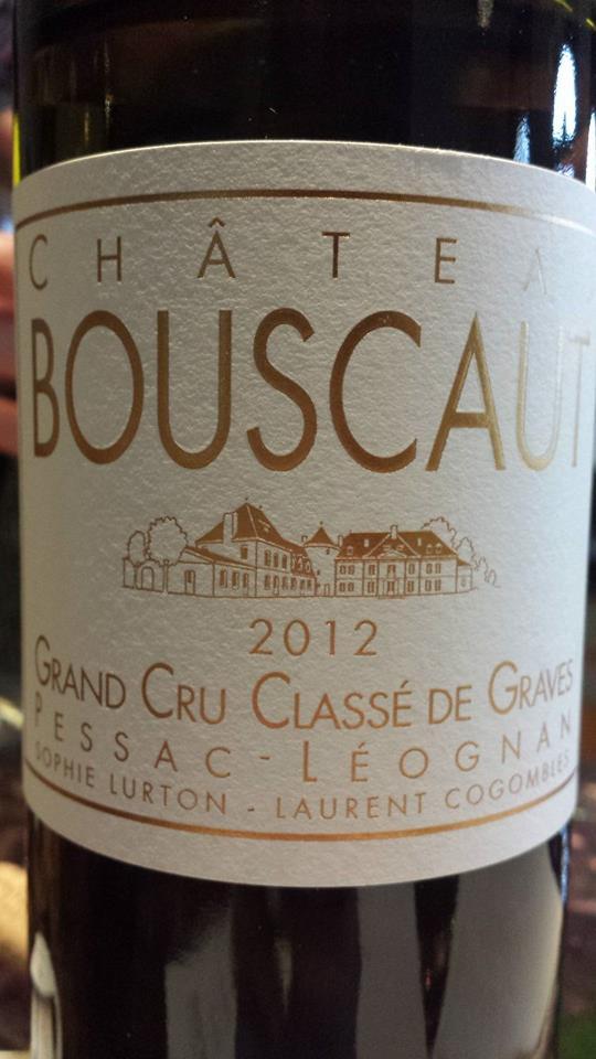 Château Bouscaut 2012 – Pessac-Léognan – Grand Cru Classé de Graves