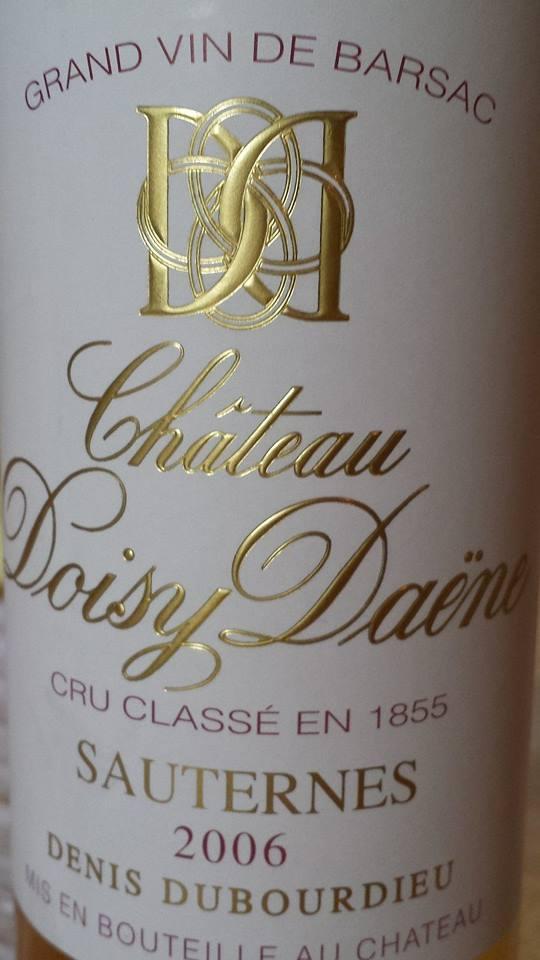 Château Doisy Daëne 2006 – 2nd Grand Cru Classé Sauternes-Barsac