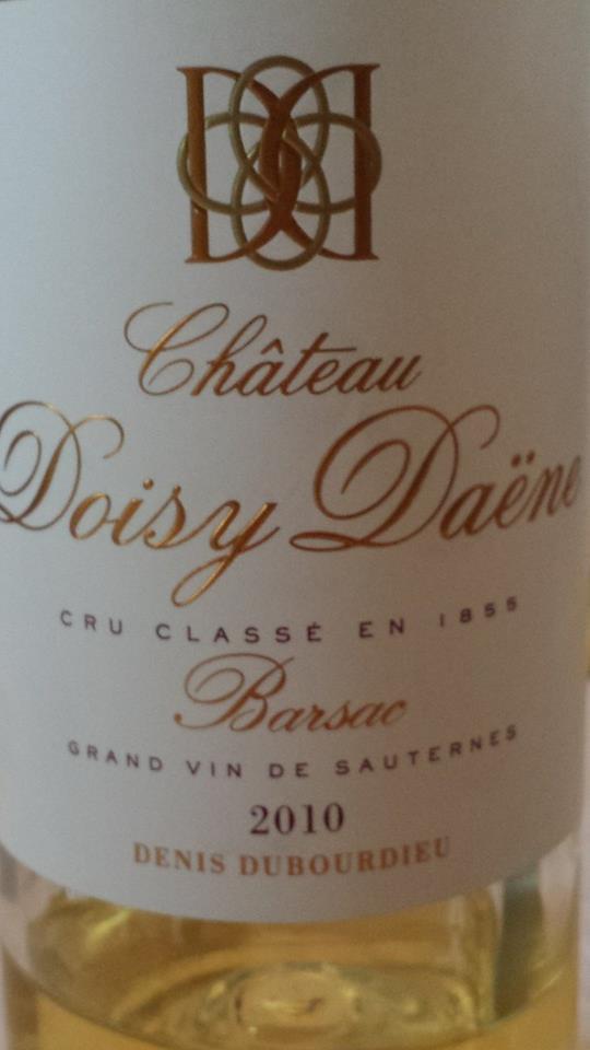 Château Doisy Daëne 2010 – 2nd Grand Cru Classé à Barsac