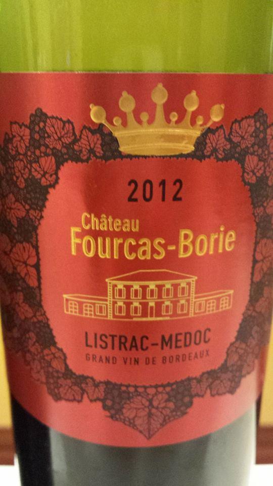 Château Fourcas-Borie 2012 – Listrac-Médoc