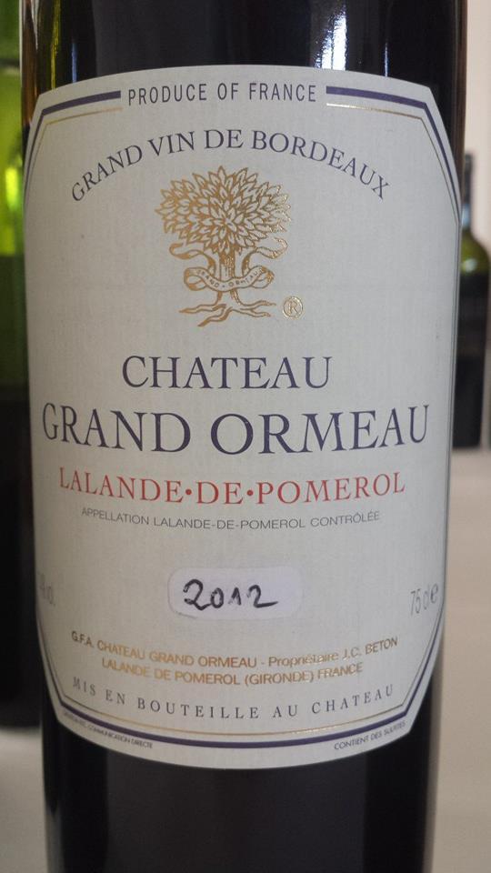 Château Grand Ormeau 2012 – Lalande-de-Pomerol