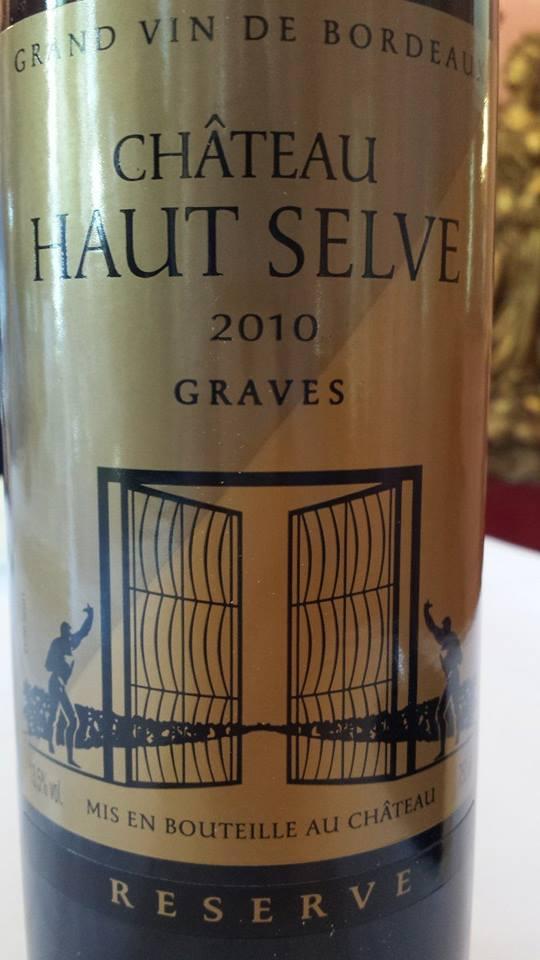 Château Haut-Selve 2010 Reserve – Graves