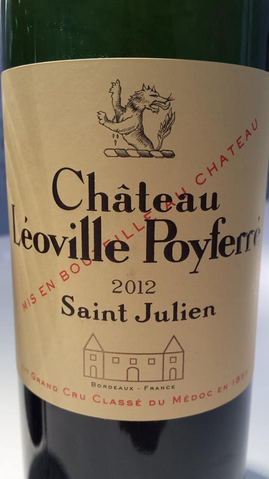 Château Léoville Poyferré 2012 – Saint-Julien – 2ème Grand Cru Classé