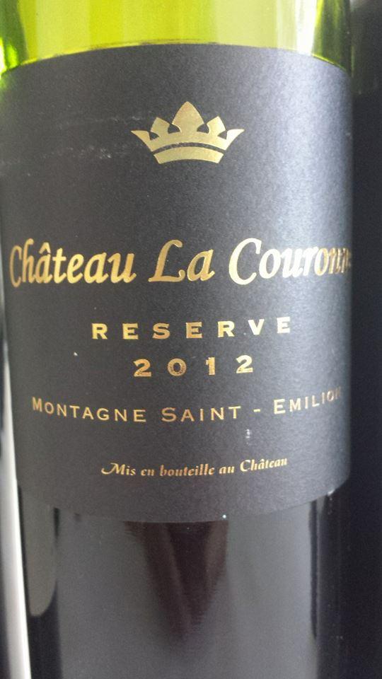 Château La Couronne – Reserve 2012 – Montagne Saint-Emilion